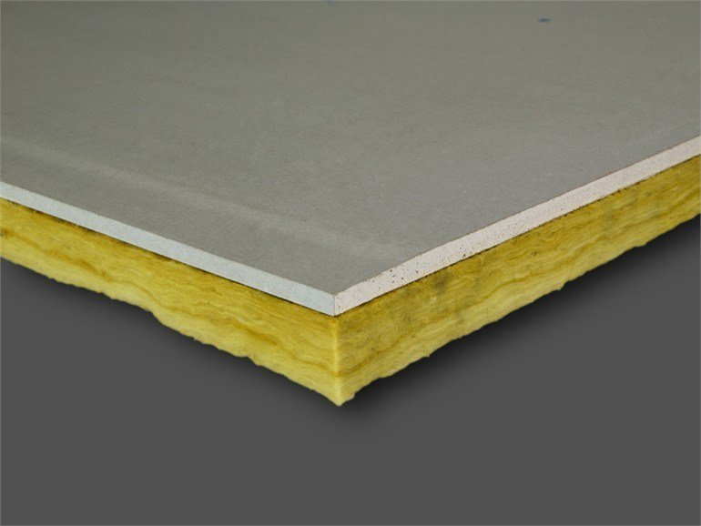 Glass wool thermal insulation panel PregyVer by Siniat
