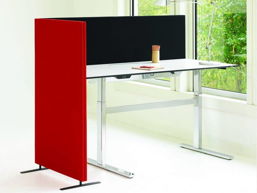 soneo schreibtisch trennwand f r schreibtisch by abstracta. Black Bedroom Furniture Sets. Home Design Ideas