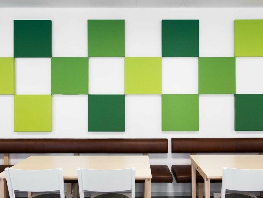 Fabric decorative acoustical panel SONEO WALL by Abstracta