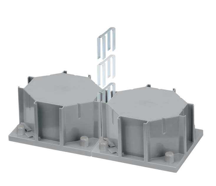 Installazione multipla di due torrette con l'accessorio ACSE