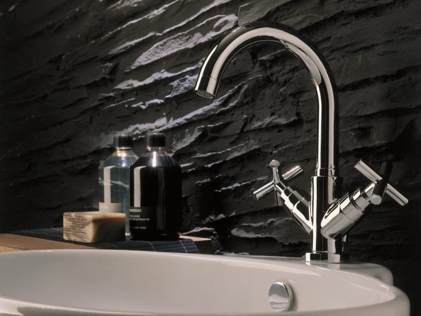 Chrome-plated countertop 1 hole washbasin tap SPRING | Washbasin tap by Nobili Rubinetterie