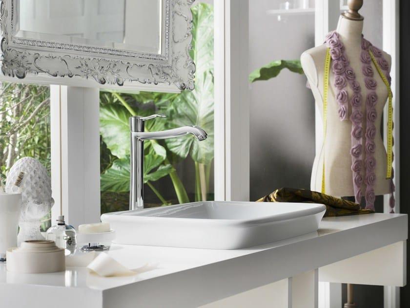 Chrome-plated single handle washbasin mixer SOFÌ   Washbasin mixer by Nobili Rubinetterie