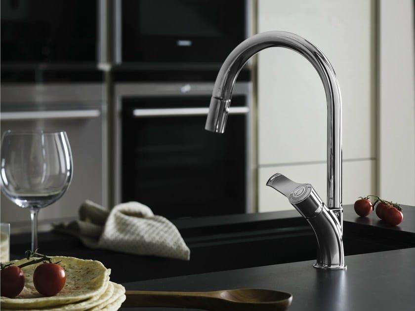 Chrome-plated 1 hole kitchen mixer tap SOFÌ | Kitchen mixer tap by Nobili Rubinetterie