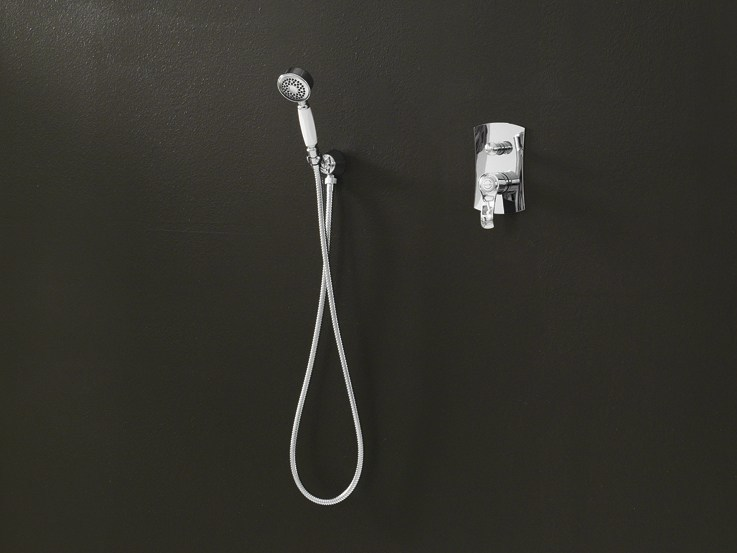 Chrome-plated shower mixer with diverter SOFÌ | Shower mixer by Nobili Rubinetterie