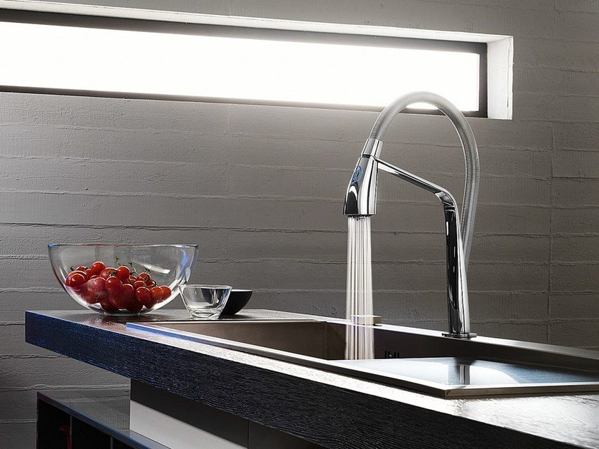 Chrome-plated electronic kitchen mixer tap KIZOKU | Electronic kitchen mixer tap by Nobili Rubinetterie