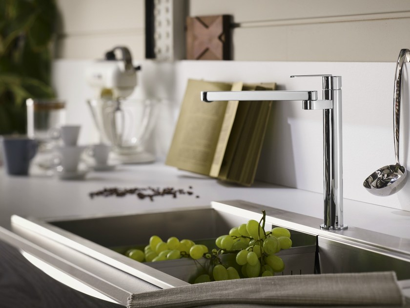 Chrome-plated countertop 1 hole kitchen mixer tap NILO | Kitchen mixer tap by Nobili Rubinetterie