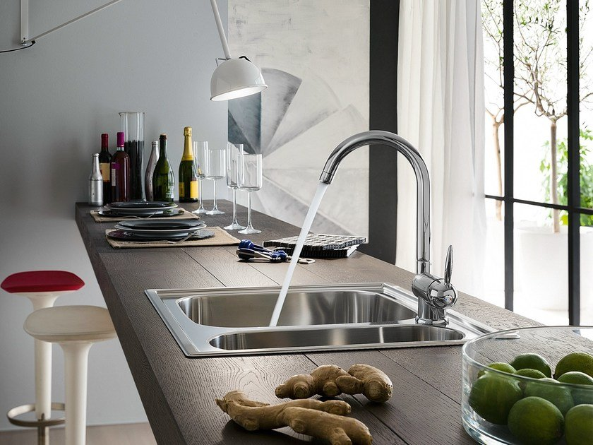 Chrome-plated 1 hole kitchen mixer tap OVETTO | Kitchen mixer tap by Nobili Rubinetterie