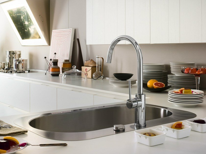 Chrome-plated kitchen mixer tap with swivel spout WEB | Kitchen mixer tap by Nobili Rubinetterie