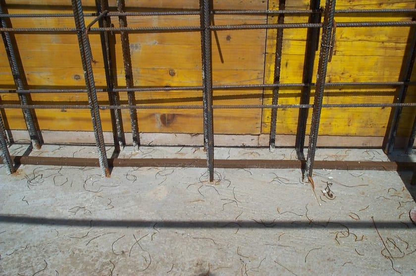 DIAJOINT Diajoint applicato sulla platea prima del getto della parte verticale