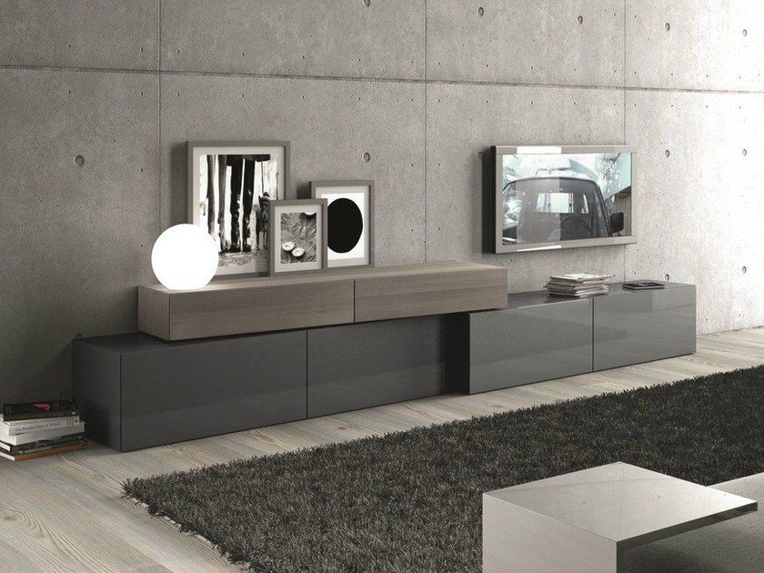 Sectional storage wall InclinART - 296 by Presotto