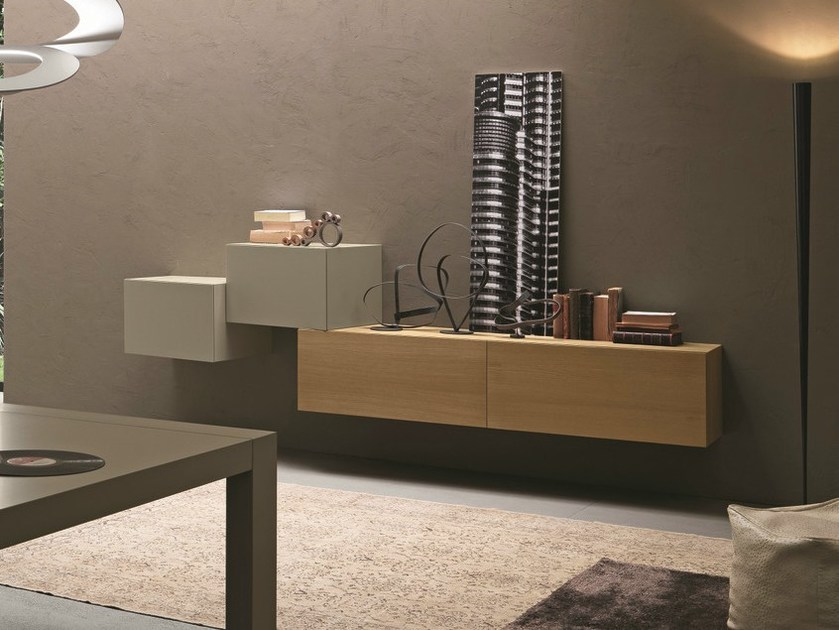 Lacquered suspended sideboard InclinART - 300 by Presotto
