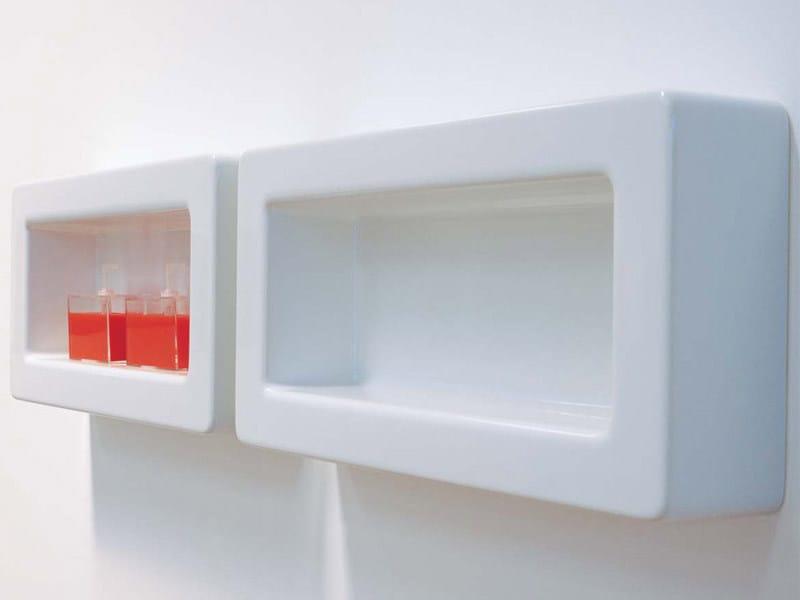 Design ceramic wall shelf FRAME | Ceramic wall shelf by CERAMICA FLAMINIA