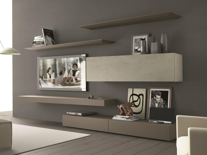 Porta Muro Tv Componibile Presotto Inclinart265 Parete Attrezzata Con Fissata A tshdQr