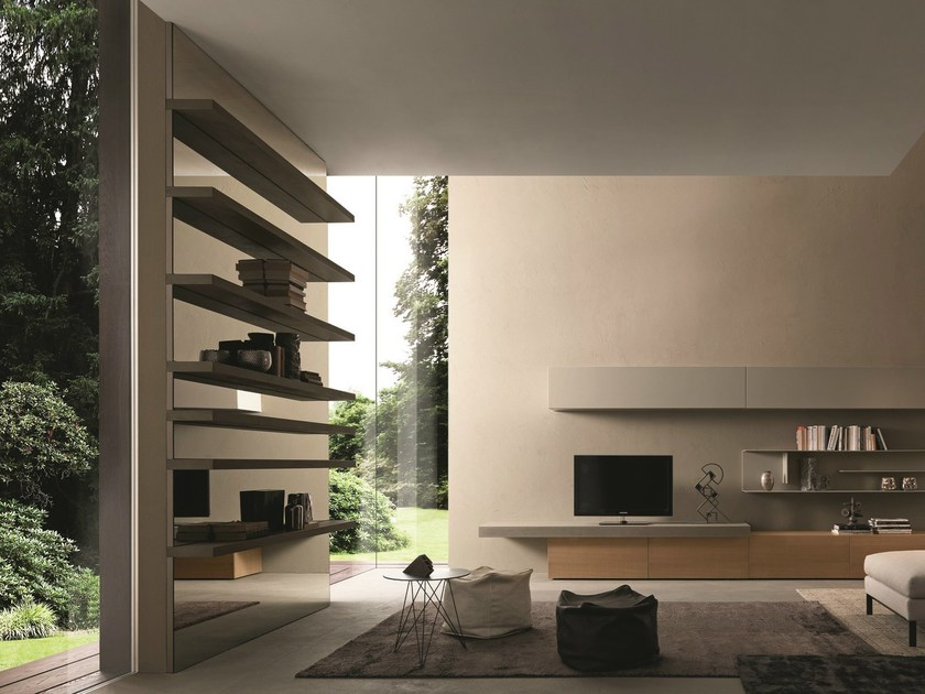 Open wall-mounted sectional bookcase I-modulArt - 286 by Presotto