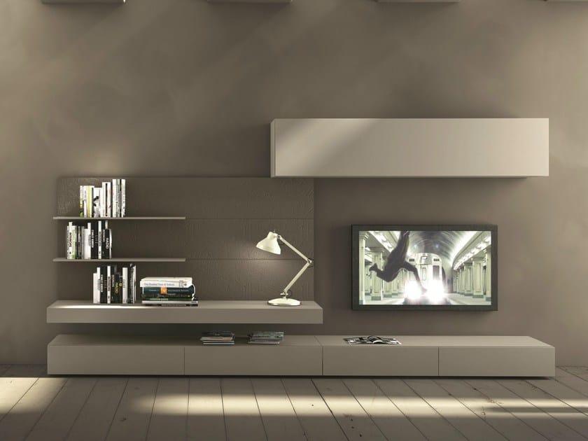 Fissata I Parete A Con Tv Presotto Porta modulart277 Muro Componibile Attrezzata F13cTlKJ