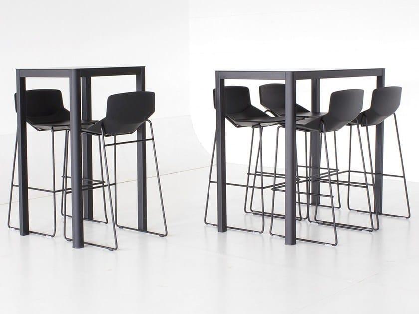 Rectangular HPL table LA TABLE 60X120 | Rectangular table by arrmet