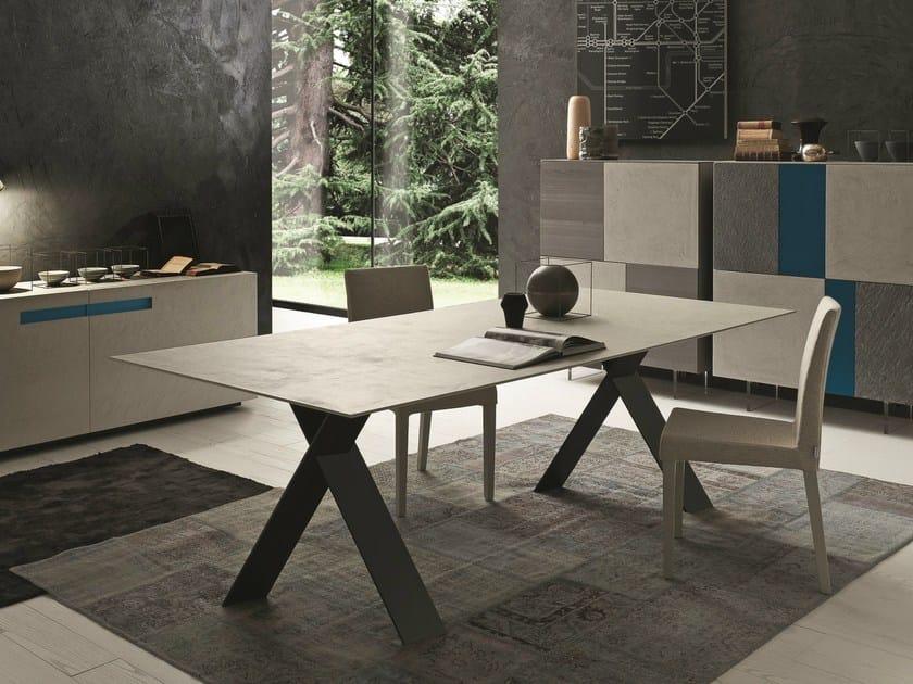 Extending rectangular ecomalta table TAILOR   Ecomalta table by Presotto