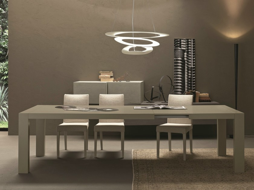 Extending rectangular wooden table OPLA' by Presotto