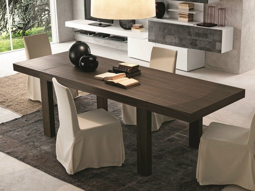 Extending rectangular table STAR by Presotto