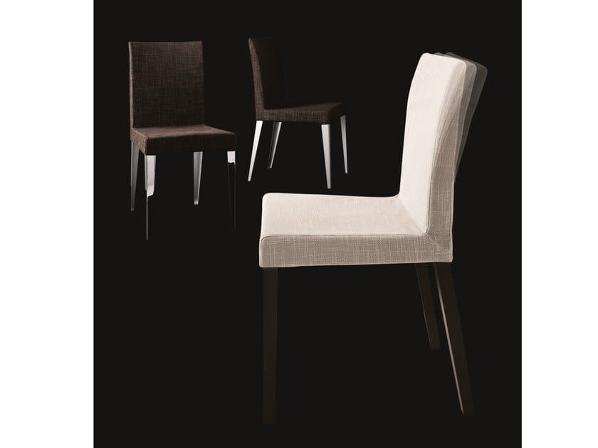 Gepolsterter stuhl aus stoff mit abnehmbarem bezug flex by