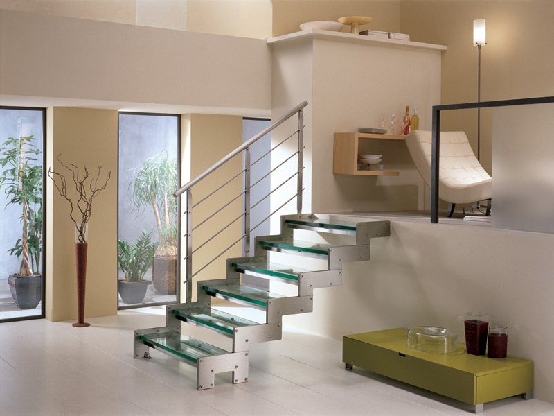 Straight Open staircase METROPOL by RINTAL