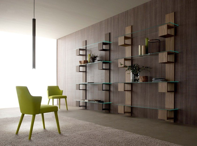 Wall-mounted sectional bookcase INFINITY by Italy Dream Design