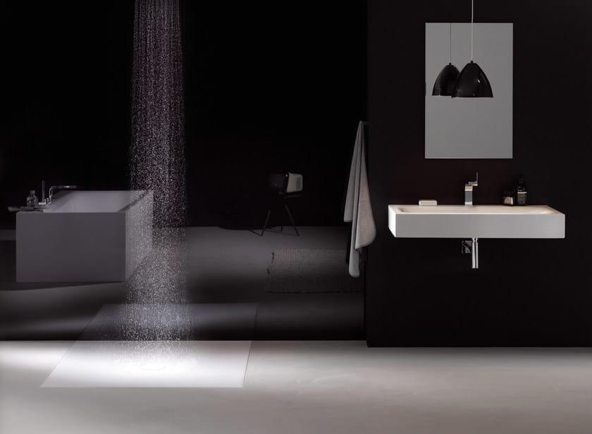 Rectangular wall-mounted enamelled steel washbasin BETTELUX | Wall-mounted washbasin by Bette