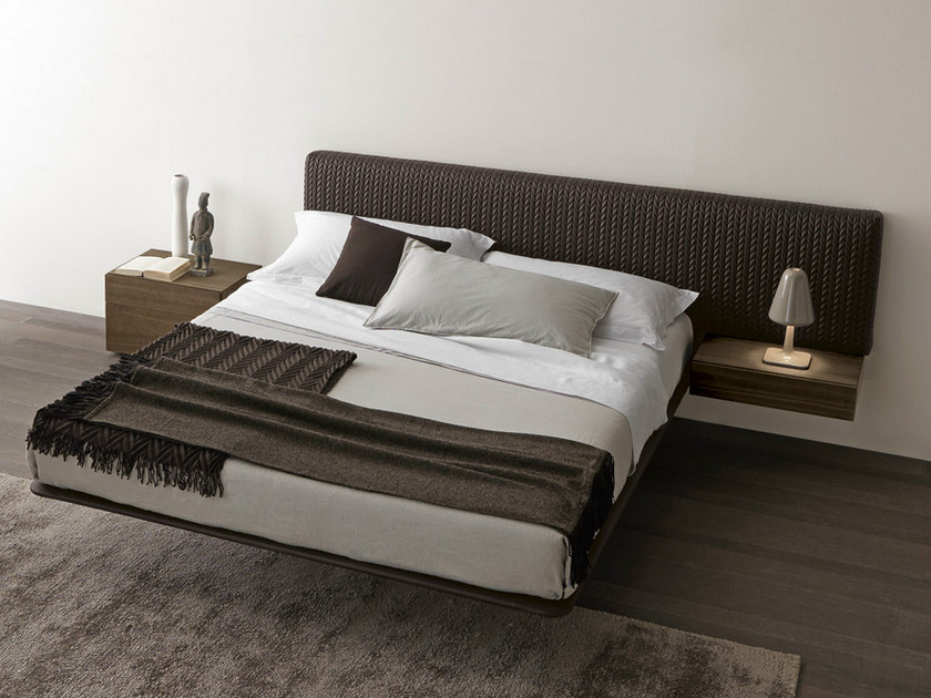 Double bed with upholstered headboard WING_SYSTEM | Double bed by Presotto