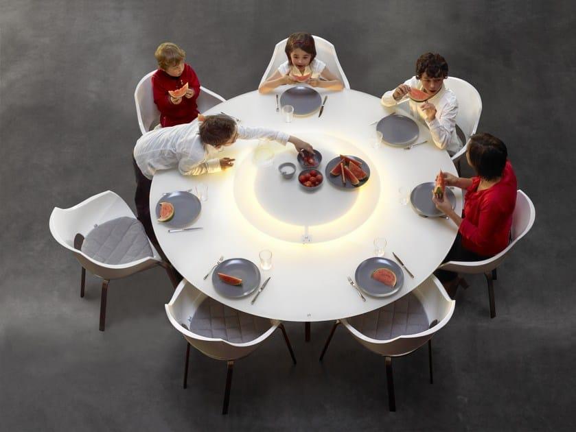 Tavolo da pranzo rotondo LUNA - Joli