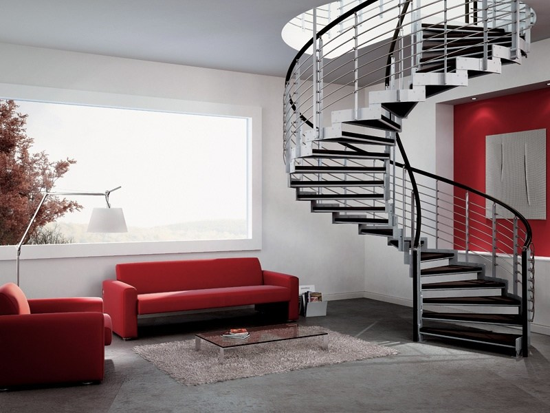 Steel Spiral staircase SPIRAL MONOLAMA by RINTAL