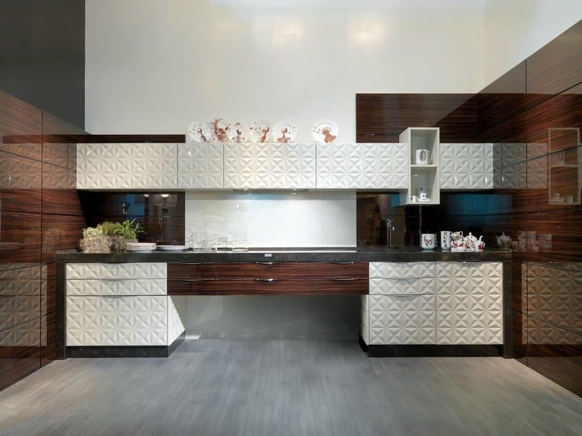 Lacquered linear kitchen DIAMOND SCRIGNO by Bizzotto