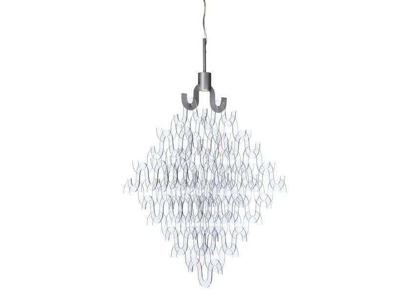 Acrylic chandelier U FORM SMALL | Acrylic chandelier by Örsjö Belysning