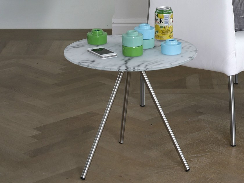 Round Xeramica coffee table for living room TRIPOD by Joli