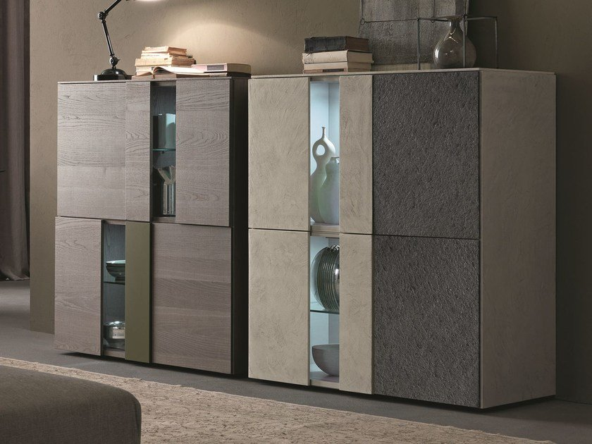 Highboard with doors I-MODULART   Highboard with doors by Presotto