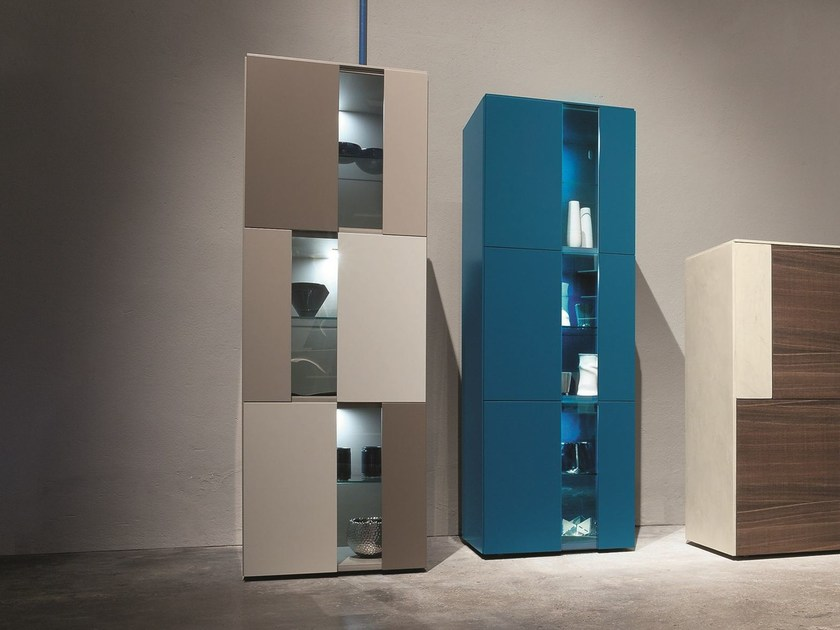 Freestanding lacquered storage unit H.1736 | Highboard by Presotto