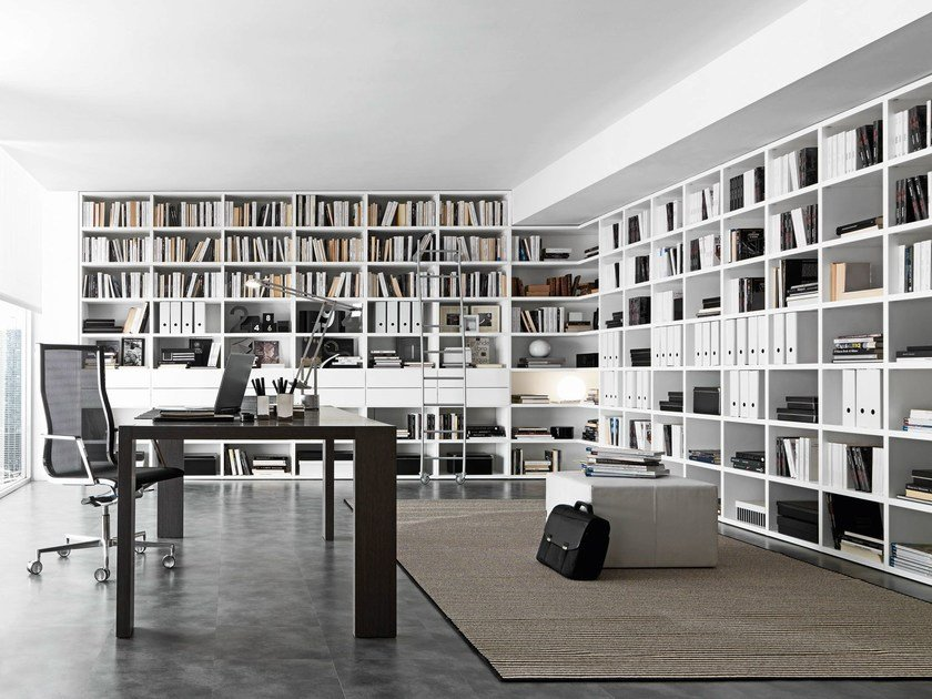 Open wall-mounted sectional bookcase Pari&Dispari - COMP 337 by Presotto