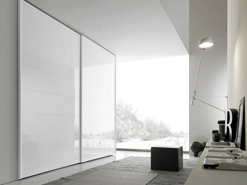 Sectional wardrobe with sliding doors Tecnopolis anta KALEIDOS by Presotto