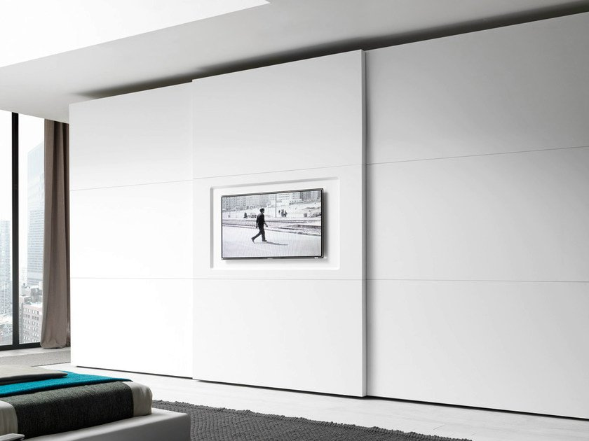Armadio laccato con TV integrata EMOTION BASIC By Fimar