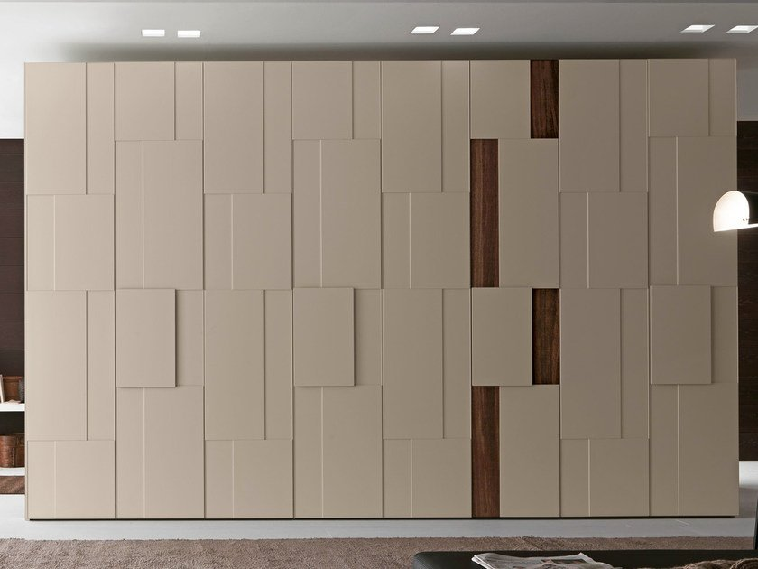 Sectional lacquered wardrobe Tecnopolis anta STEP by Presotto