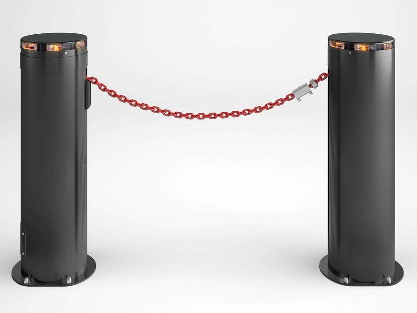 Retractable cylindrical bollard TWIN by Bft