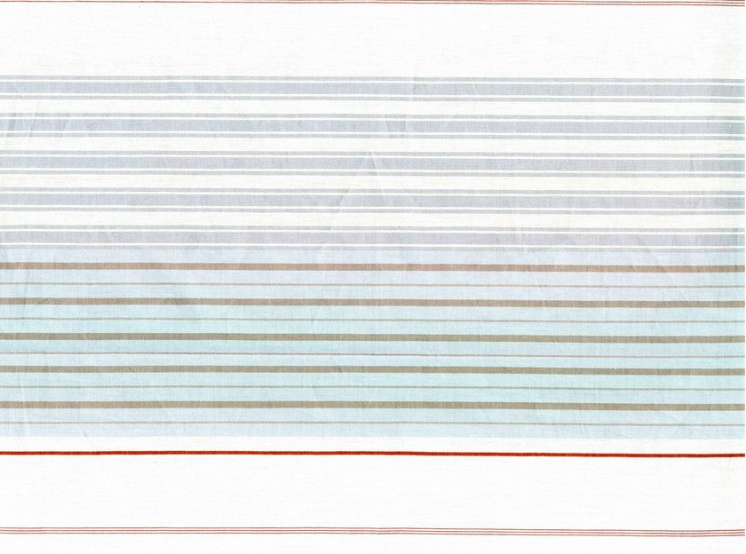 Striped cotton fabric NANTERRE by KOHRO