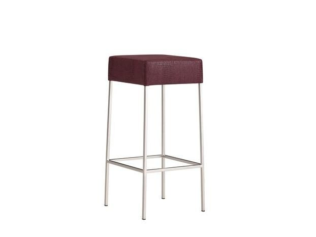 Upholstered leather stool COMO | Stool by COLLI CASA