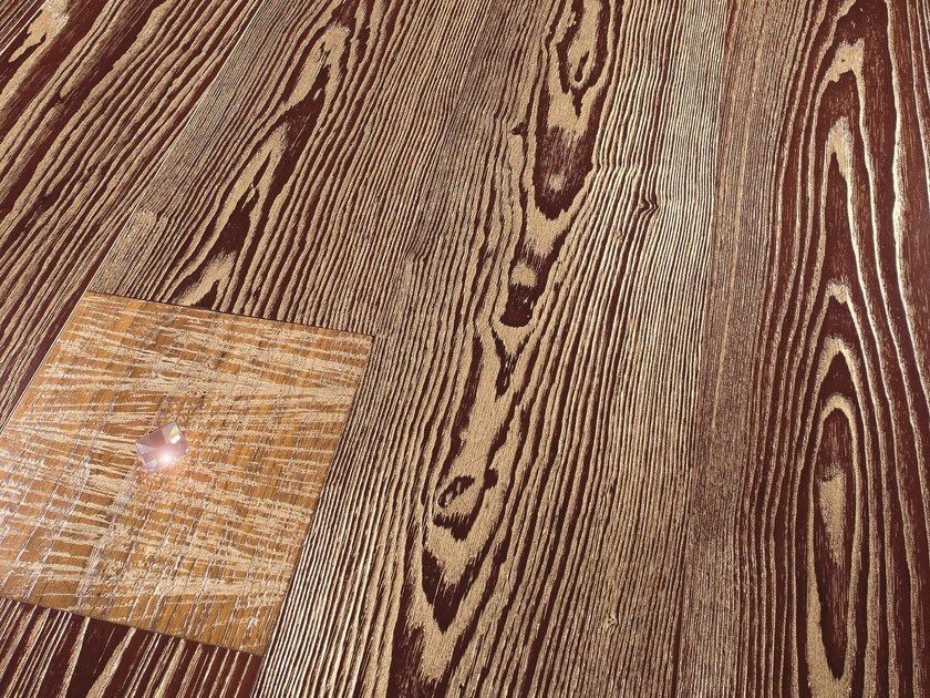 Gold and Swarovsky ash parquet GOLD PLANKS | Ash parquet by CADORIN GROUP