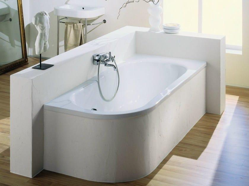 Vasche Da Bagno Angolari Asimmetriche : Vasca da bagno angolare asimmetrica in acciaio smaltato bettepur iv