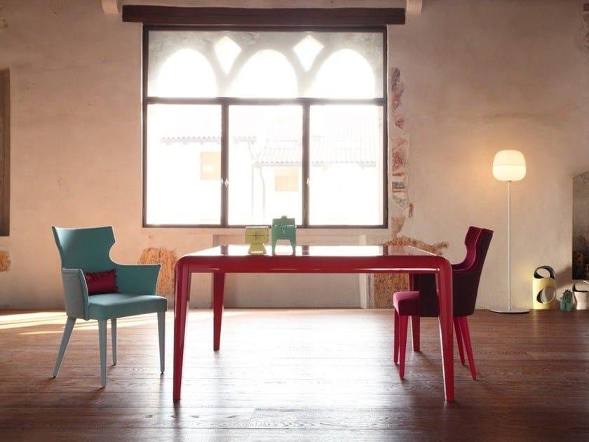 Lacquered square table CAPRI | Square table by COLLI CASA