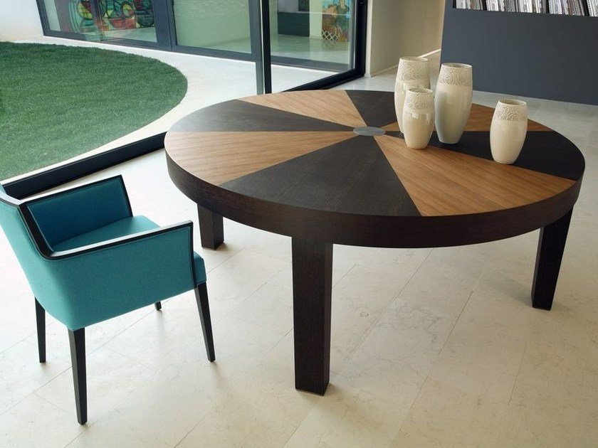 Round wooden table ROMA | Round table by COLLI CASA