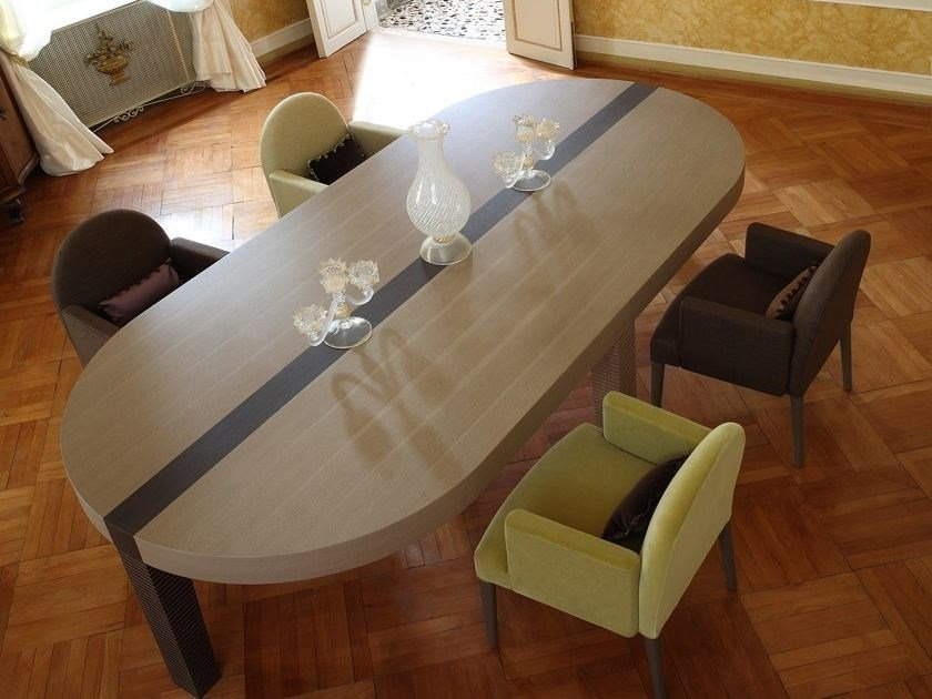 Oval wooden table ROMA | Oval table by COLLI CASA