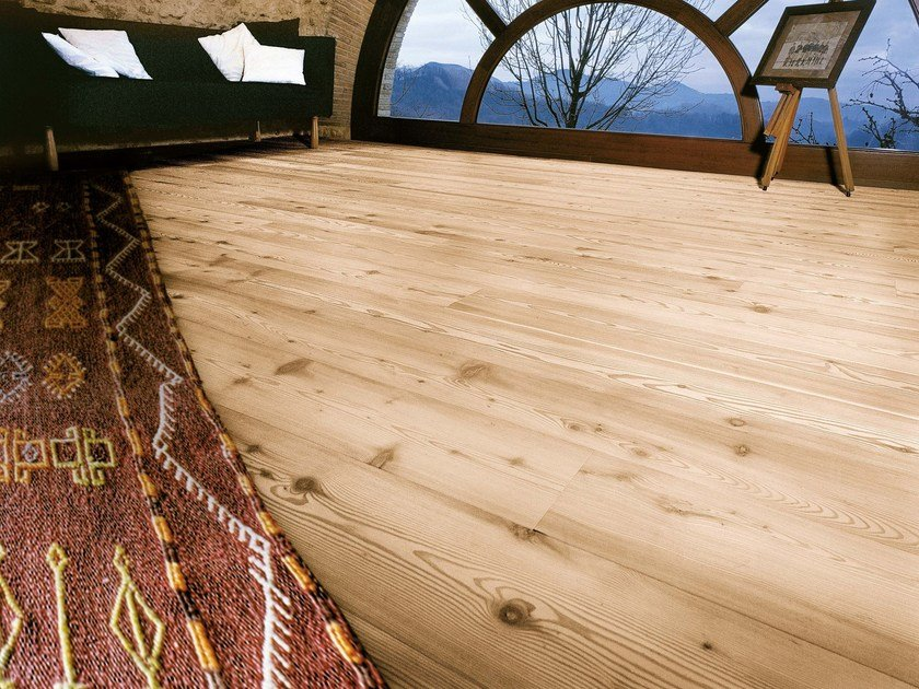 Knotted larch antiqued oiled parquet LARCH PLANKS | Larch parquet by CADORIN GROUP