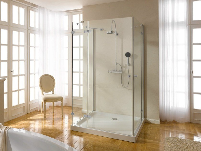 Square enamelled steel shower tray EXTRAFLACH | Square shower tray by Bette