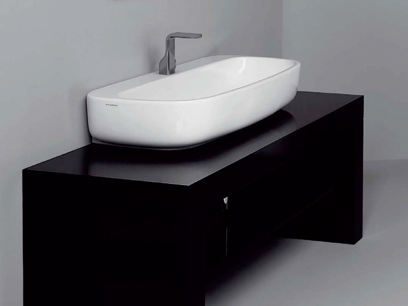 Countertop ceramic washbasin MONO' | Countertop washbasin by Ceramica Flaminia